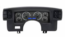 1979-1993 Mustang Parts - 1979-1993 New Products - Dakota Digital Gauges & Accessories - 90 - 93 Mustang VHX Instruments, Black Alloy Gauge Face
