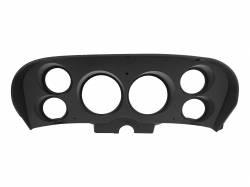 Dash - Instrument Bezels - Scott Drake - 69 - 70 Mustang Custom 6 Gauge Instrument Bezel, Black Camera Case