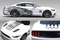 2015-2017 Mustang Parts - 2015-2017 New Products - OG Innovations - Universal Mustang Vinyl Graphics - Battleborn/Stars&Stripes