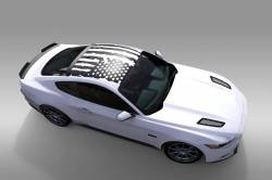 OG Innovations - Universal Mustang Vinyl Graphics - Roof Flag
