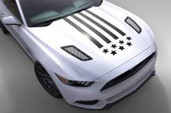 2015-2017 Mustang Parts - 2015-2017 New Products - OG Innovations - Universal Mustang Vinyl Graphics - Stars&Stripes