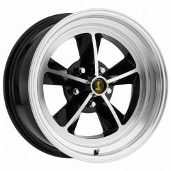 Legendary Wheel Co. - 69 - 73 Mustang 15 x 7 Legendary GT9 Alloy Wheel, 5 on 4.5 BP, 4.25 BS, Gloss Black / Machined