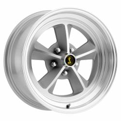 1964-1973 Mustang Parts - 1964-1973 New Products - Legendary Wheel Co. - 69 - 73 Mustang 15 x 7 Legendary GT9 Alloy Wheel, 5 on 4.5 BP, 4.25 BS, Natural