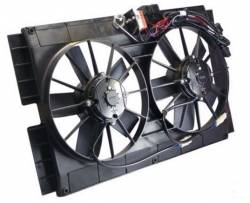 Cooling - Radiator Fan & Shrouds - Stang-Aholics - 67-70 Mustang Dual Electric Fans with Shroud and Wiring for 24 Inch Radiator