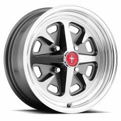 Legendary Wheel Co. - 69 - 73 Mustang 15 x 7 Legendary GT9 Alloy Wheel, 5 on 4.5 BP, 4.25 BS, Charcoal