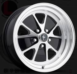Wheels - 17 Inch - Legendary Wheel Co. - 64 - 73 Mustang 17 x 7 Styled Alloy Wheel, Gloss Black