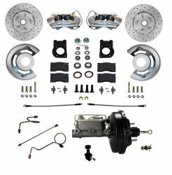 Master Cylinders & Boosters - Power Brake Boosters - Scott Drake - 71 - 73 Mustang Power Disc Brake Conversion Kit, DS for Automatic Trans