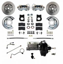 Master Cylinders & Boosters - Power Brake Boosters - Scott Drake - 71 - 73 Mustang Power Disc Brake Conversion Kit, Automatic Trans