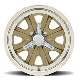 Wheels - 15 Inch - Scott Drake - 15 x 7 Legendary HB44 Alloy Wheel, 4 on 4.5 BP, 4.25 BS, 4 Lug, Gold Haze