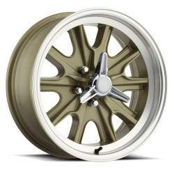 Wheels - 15 Inch - Scott Drake - 15 x 7 Legendary HB45 Alloy Wheel, 5 on 4.5 BP, 4.25 BS, 5 Lug, Gold Haze