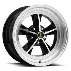 Wheels - 17 Inch - Scott Drake - 17 x 7 Legendary GT9 Alloy Wheel, 5 on 4.5 BP, 4.25 BS, Gloss Black / Machined