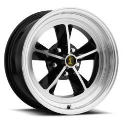 Wheels - 17 Inch - Scott Drake - 17 x 7 Legendary GT9 Alloy Wheel, 5 on 4.5 BP, 4.25 BS, Gloss Black / Machined