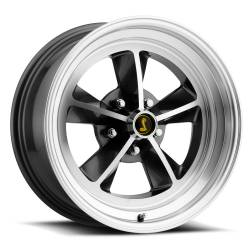 Wheels - 17 Inch - Scott Drake - 17 x 7 Legendary GT9 Alloy Wheel, 5 on 4.5 BP, 4.25 BS,Charcoal / Machined