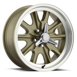 Wheels - 17 Inch - Scott Drake - 17 x 7 Legendary HB45 Alloy Wheel, 5 on 4.5 BP, 4.25 BS, 5 Lug, Gold Haze