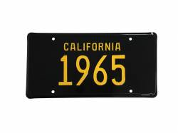 Accessories - License Plate - Scott Drake - 1965 Mustang California License Plate