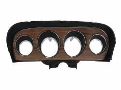 Gauges - Instrument Bezels - Scott Drake - 1969 Mustang Deluxe Instrument Bezel, Woodgrain Insert