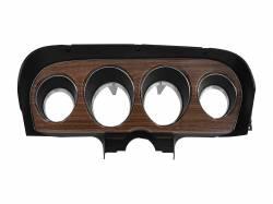 Gauges - Instrument Bezels - Scott Drake - 1970 Mustang Deluxe Instrument Bezel, Woodgrain