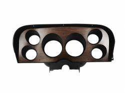 Gauges - Instrument Bezels - Scott Drake - 1969 - 1970 Mustang Restomod Instrument Bezel SET, Walnut