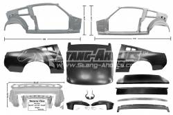 Dynacorn - 67 Mustang Coupe to Fastback Sheet Metal Conversion Kit