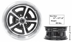 Wheels - 15 Inch - Dynacorn - 15 x 7 Magnum Alloy Wheel with Center Cap, 65-73 Mustang