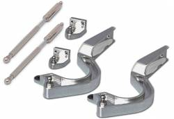 Eddie Motor Sports - 65 - 68 Mustang Coupe Billet Trunk Hinge Arm w/SS Strut, Polished