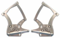 Hood - Hinge - Eddie Motor Sports - 64 - 66 Mustang Billet Hood Hinges- Clear Anodized