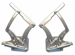 Hood - Hinge - Eddie Motor Sports - 67 - 68 Mustang Billet Hood Hinges- Clear Anodized