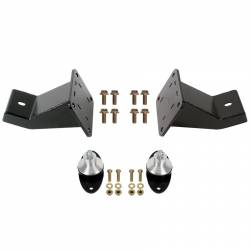 Engine - Engine Mounts - Detroit Speed - Big Block FE 390/428 Engine Mount Kit, DSE Aluma-Frame Front Suspension, 65 - 70 Mustang
