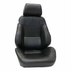 Seats & Components - Aftermarket Seats - Procar - Mustang Procar Rally DLX Black Vinyl Seat, Left