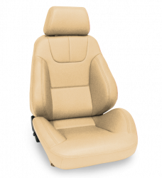 Procar - Mustang Procar Rally DLX Beige Vinyl Seat, Left