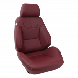 Seats & Components - Aftermarket Seats - Procar - Mustang Procar Rally DLX Maroon Vinyl Seat, Left