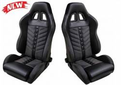 TMI Products - 79 - 93 Mustang TMI PRO-CHICANE SPORT-VXR High Back Seat