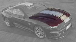 Shelby Performance Parts - 2018 - 2019 Mustang Shelby Super Snake Hood w/ Hood Vents
