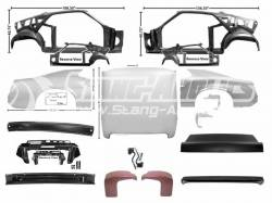 Body - Fastback Conversion Kits - Dynacorn - 70 Mustang Coupe to Fastback Sheet Metal Conversion Kit