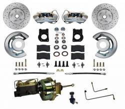 Master Cylinders & Boosters - Power Brake Boosters - Scott Drake - 1964 - 1966 Mustang Power Front Disc Brake Conversion Kit, for Automatic Transmission