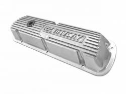 Engine - Valve Covers - Scott Drake - 1964 - 1985 Mustang  Polished Aluminum Valve Covers with Shelby Logo (P