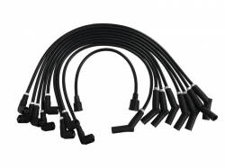 Ignition System - Distributor - Scott Drake - 289-302 8mm Ford Logo Ignition Wires Black