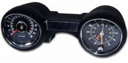 Gauges - Rally Pac - Scott Drake - 64 - 65 Mustang Rally Pac 8K RPM, Plain Black