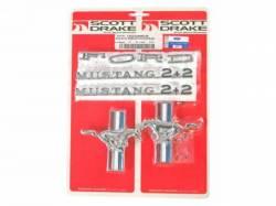 Emblems - Kits - Scott Drake - 65-66 Mustang Fastback Emblem Kit (6 Cylinder)