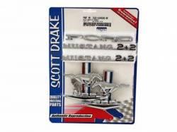 Emblems - Kits - Scott Drake - 65-66 Mustang Fastback Emblem Kit (8 Cylinder)