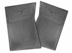 Carpet & Related - Floor Mat Sets - Scott Drake - 64-73 Mustang Pony Floor Mats (Black)