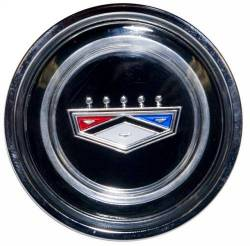 Wheels - Hub Caps & Trim Rings - Scott Drake - 1964 - 1970 Ford Mustang Crest Hub Cap-Black