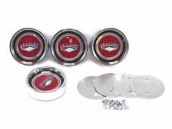 Wheels - Hub Caps & Trim Rings - Scott Drake - 1966 Falcon/Fairlane Styled Steel HubCap Set