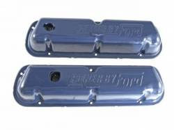 Engine - Valve Covers - Scott Drake - 1968 - 1970 Mustang  Valve Covers (OE Small Block, Dark Ford Blue)
