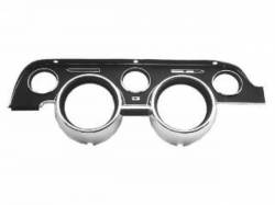 Gauges - Instrument Bezels - Scott Drake - 1968 Mustang  Instrument Bezel (Black Camera Case Finish)