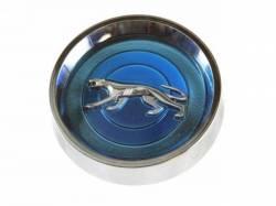 Wheels - Hub Caps & Trim Rings - Scott Drake - 69-70 Cougar Original Hubcaps Set (Blue)
