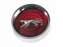 Wheels - Hub Caps & Trim Rings - Scott Drake - 69-70 Cougar Original Hubcaps Set (Red)