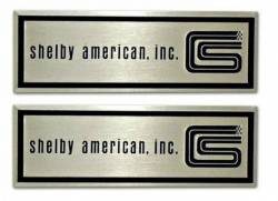 Carpet & Related - Sill Plates - Scott Drake - 1965 - 1966 Mustang  Shelby Door Sill Scuff Plate Emblems