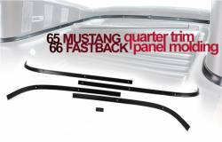 Trim Panels - Trap Door & Related - All Classic Parts - 65 - 66 Mustang Fastback Rear Interior Quarter Panel Molding Set