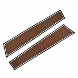 Door Panels & Related - Deluxe Panels - All Classic Parts - 71-73 Mustang Door Panel w/ Woodgrain Inserts, PAIR